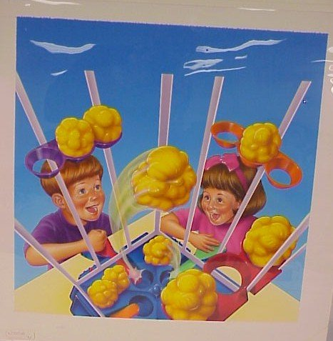 724: Original Watercolor Art  Children's Game