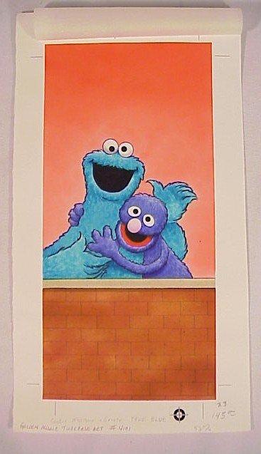 773: Original Illustration Sesame Street Cookie Monster