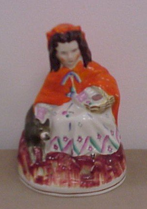 307: Little Red Riding Hood Staffordshire Statue