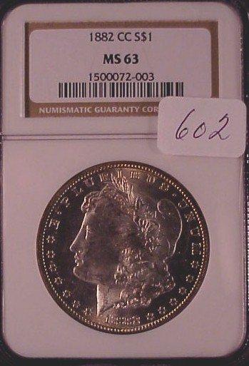 602: 1882 C.C. Morgan Silver Dollar
