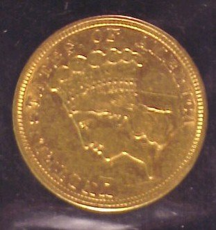 613: 1854 $3.00 Indianhead Gold Coin-VF