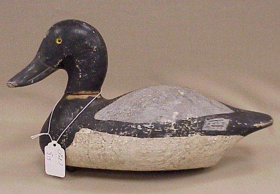 815: Wood Duck Decoy-Drake Bluebill West Bend, WI