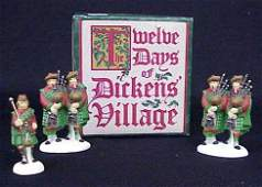 401: Dept 56 10 Pipers Piping-12 Days Dickens Village