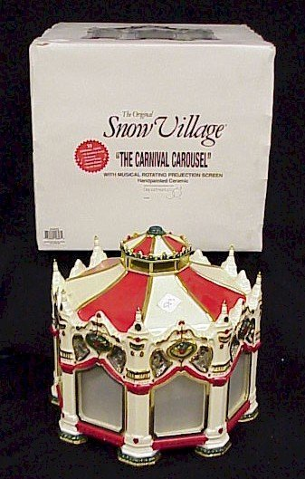 583: Dept. 56 Snow Village Animated Carnival Carousel