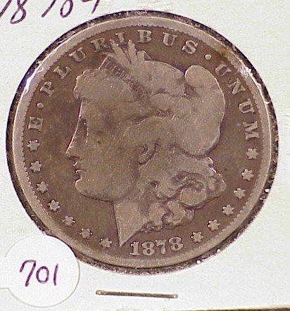 701: 1878-P Morgan Silver Dollar