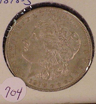 704: 1878-S Morgan Silver Dollar