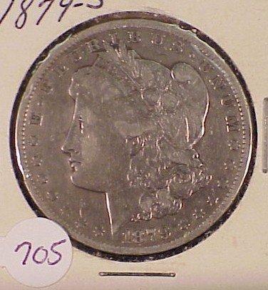 705: 1879-S Morgan Silver Dollar