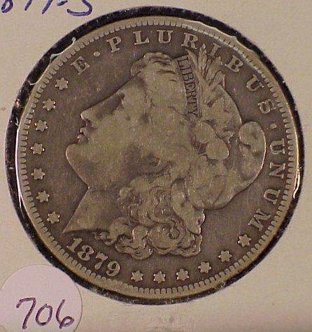 706: 1879-S Morgan Silver Dollar