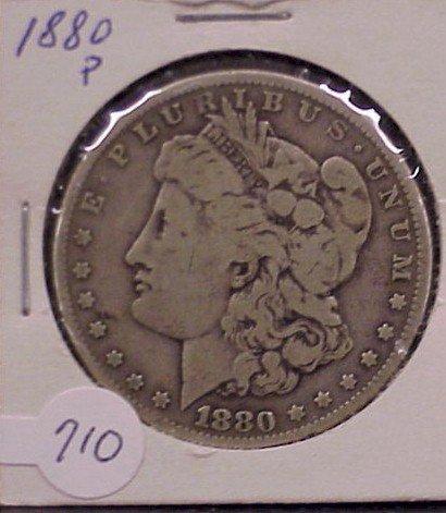 710: 1880-P Morgan Silver Dollar