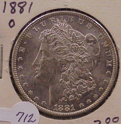 712: 1881-O Morgan Silver Dollar