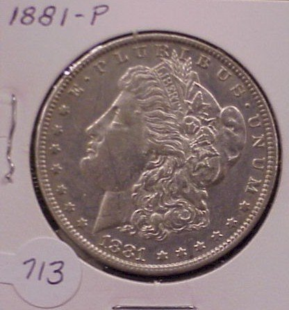 713: 1881 Morgan Silver Dollar