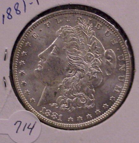 714: 1881 Morgan Silver Dollar