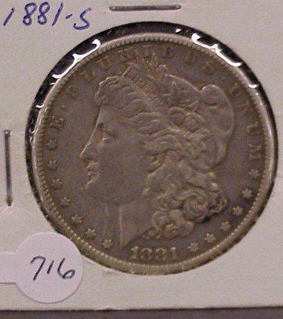 716: 1881-S Morgan Silver Dollar