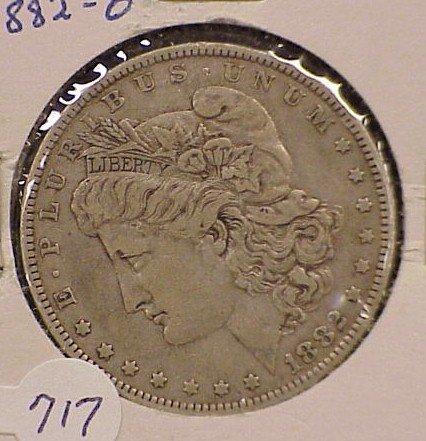717: 1882-O Morgan Silver Dollar