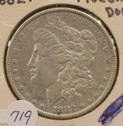 719: 1882-P Morgan Silver Dollar