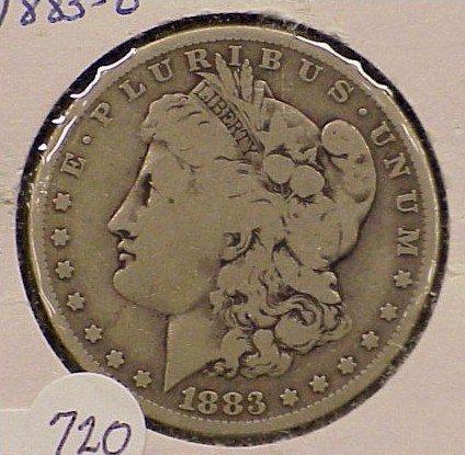 720: 1883-O Morgan Silver Dollar