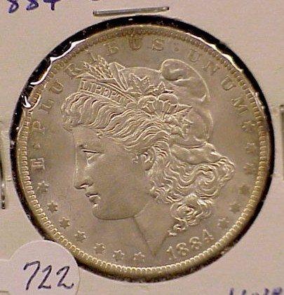 722: 1884-O Morgan Silver Dollar