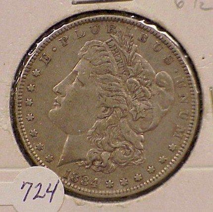 724: 1884 Morgan Silver Dollar