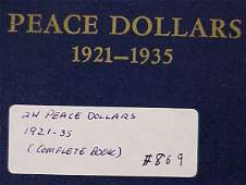 869: Complete Book of Peace Silver Dollars (24)