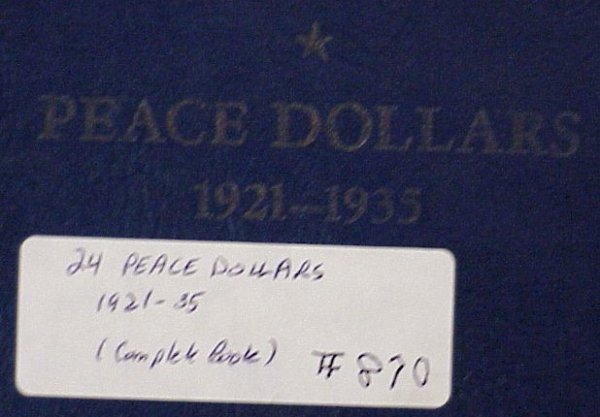870: Complete Book of Peace Silver Dollars (24)