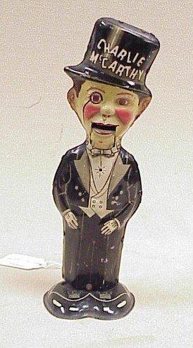1100: Vintage Tin Toy: Charlie McCarthy Walker