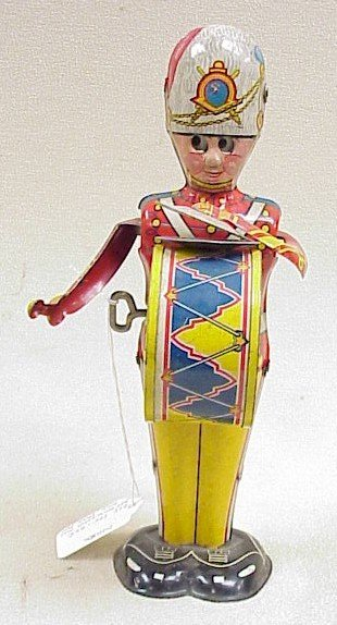 1105: Vtg. George the Drummer Boy Tin Toy-Marx