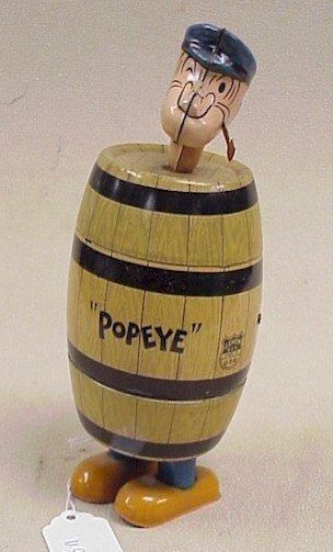 1107: Popeye in a Barrel Tin Wind Up