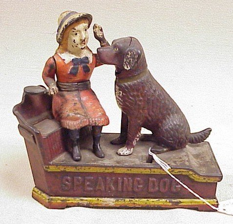 1108: Speaking Dog Mechanical Bank