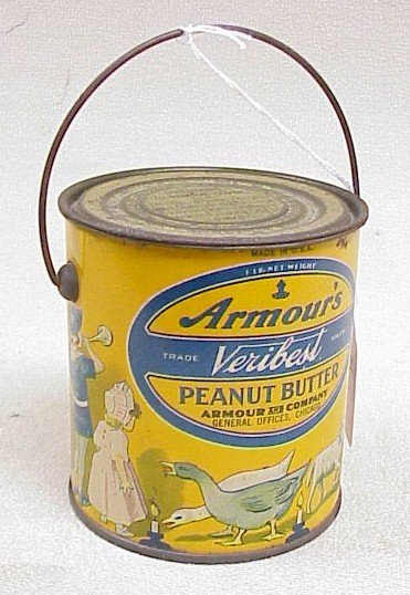 1117: Vintage Armour's Peanut Butter Tin Can
