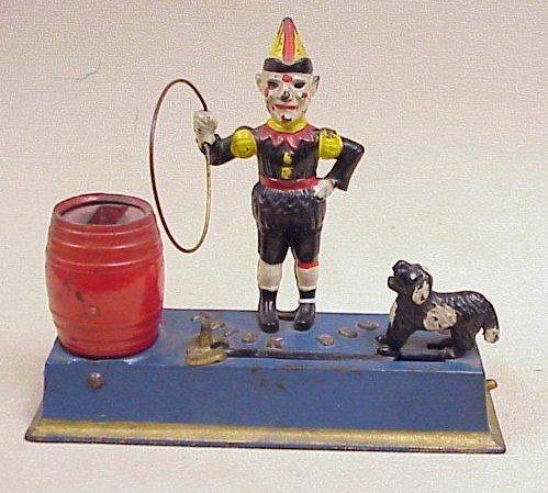 1119: Vtg. Trick Dog Mechanical  Bank