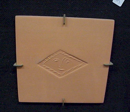 34: Original Picasso Terra Cotta Tile-Face