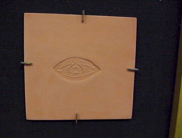 35: Original Picasso Terra Cotta Tile-Eye