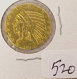 520: 1912 $5 Indian Head Gold Coin