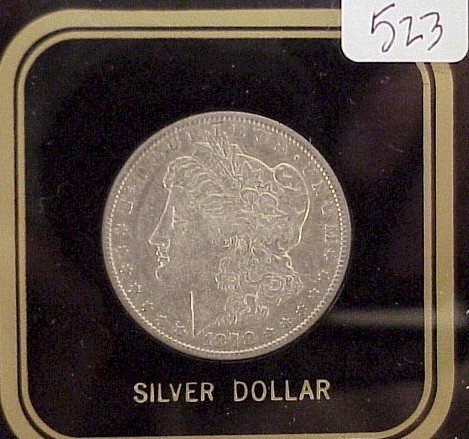 523: 1878-P Morgan Silver Dollar 7/8 Tail Feather