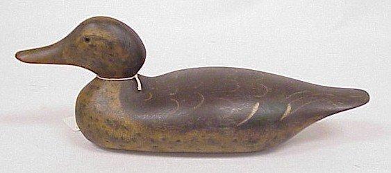 803: Wood Carved Duck Decoy-Mason's Standard