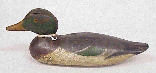 805: Wood Carved Duck Decoy-Mason's Drake