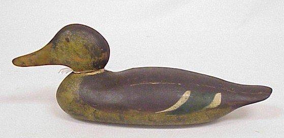 806: Wood Carved Duck Decoy-Mason's Hen