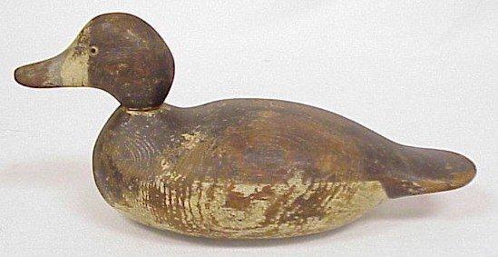 810: Wood Carved Duck Decoy-Mason's Bluebill