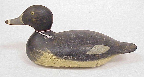 811: Wood Carved Duck Decoy-Mason's Ring Neck