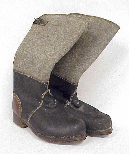 812: WWII German Eastern Front Winter Boots
