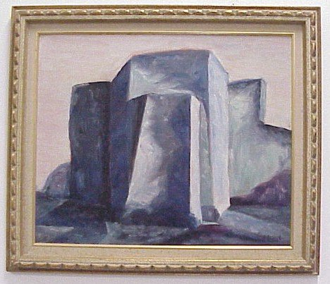 902: Modernist Oil on Board-Signed J. Joseph