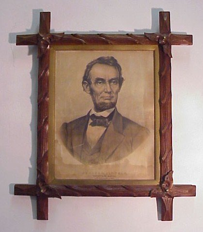 906: Hand Colored Lithograph-Abraham Lincoln