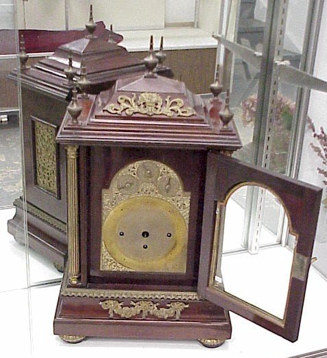 924: Large, Ornate Bracket Mantle Clock-Not working
