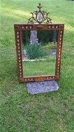 Antique Mirror, Frame contains Hand made Spanish tiles