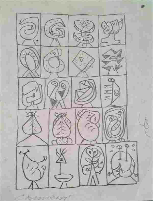 Carmassi Arturo - Sketch, '70