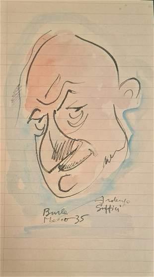 Bonetti Uberto - Caricature by Ardengo Soffici, 1935