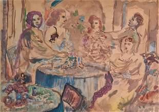 Sassu Aligi - At the bar, 1946