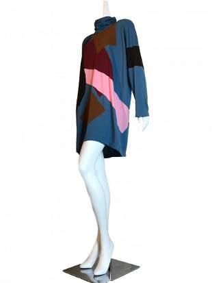 Jean Muir Graphic Color Block Sweater Dress -Never Worn