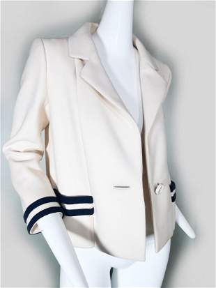 1960s Norman Norell Cropped Sailor Jacket