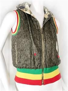 John Galliano for Dior Iconic Rasta Streetwear Hoodie